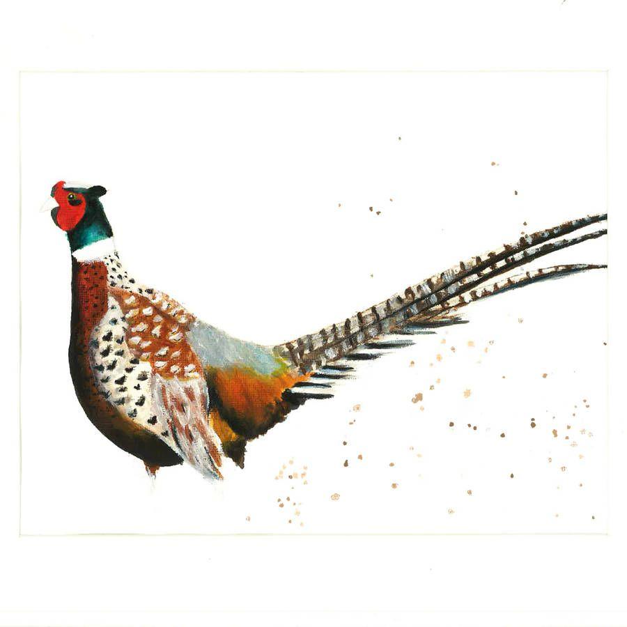 HELEN ROSE Limited Print of my PHEASANT bird art watercolour 192