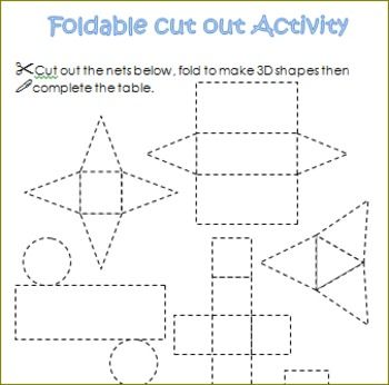 3d shapes worksheets sorting activities nets posters How to make 3d shapes