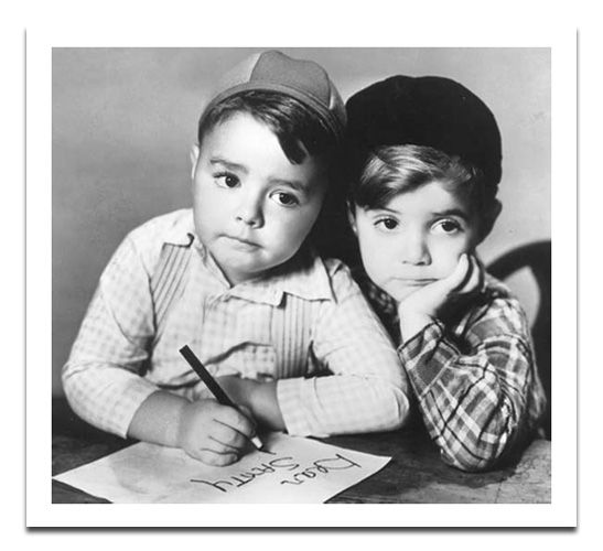 Little Rascals....watched them as a young child ...  Little Rascals....