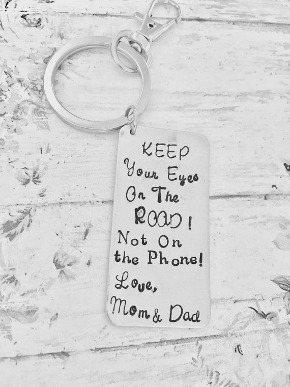 cda28083627f Son Drive Safe Keychain Don t Text and drive Keep your