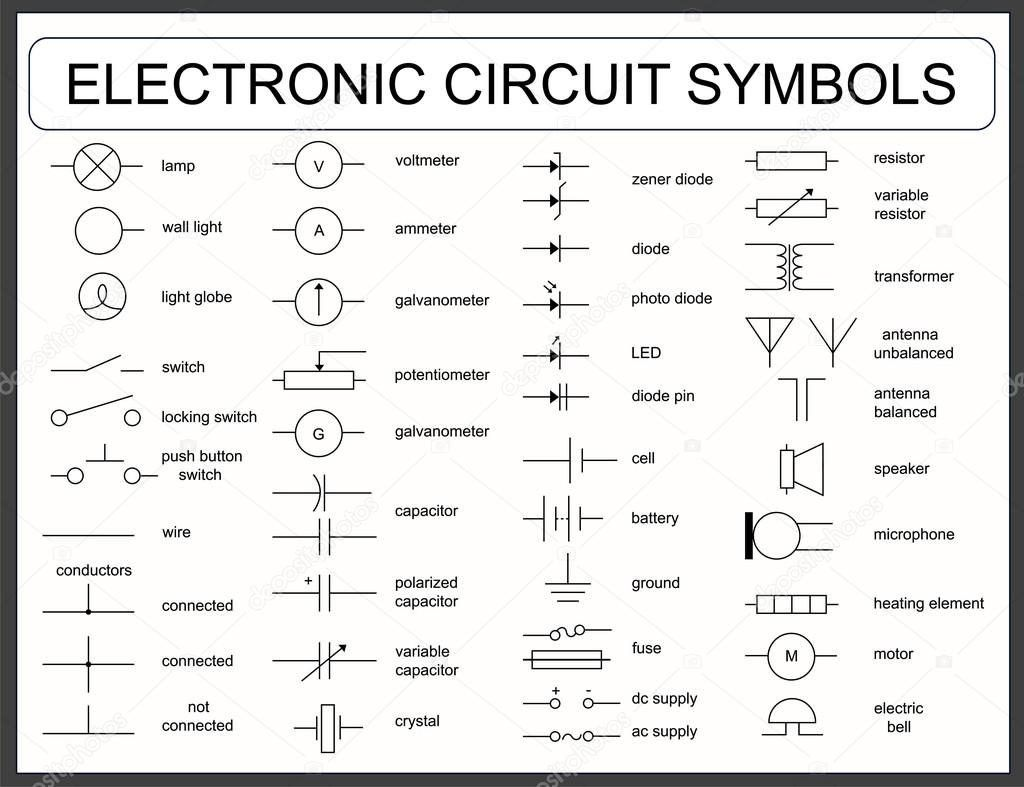 Wiring Diagram For Electric Scooter - bookingritzcarlton.info | Electronics  circuit, Electrical symbols, Electrical schematic symbols | Hvac Wiring Diagram Symbols Stencils |  | Pinterest