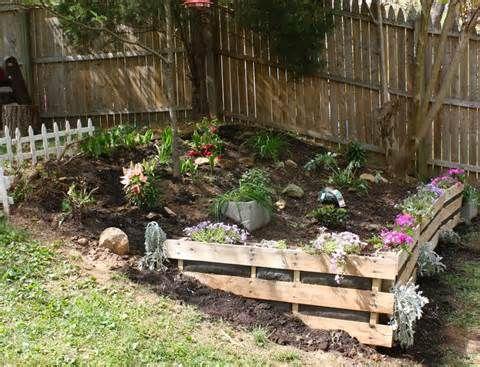Pallet Garden Yahoo Image Search Results Paleta De Jardin Jardin En Pendiente Jardines