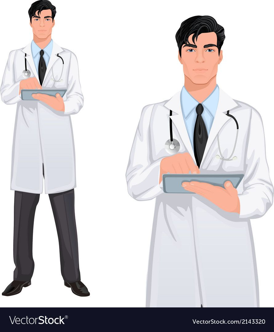 Yong Man Doctor Vector Image On