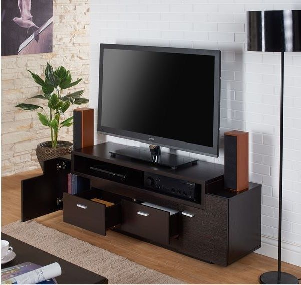 Tv stand home entertainment media center 60 flat screen storage tv stand home entertainment media center 60 flat screen storage console shelves sciox Image collections