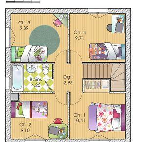 Découvrez Les Plans De Cette Une Maison Bioclimatique à Bon Prix Sur Www. Construiresamaison.