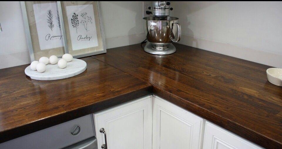 Dark stained butcher block ikea wood countertops ikea
