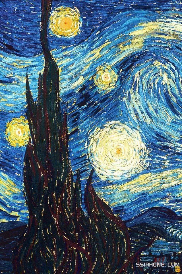 Starry Night Van Gogh Wallpaper Starry Night Van Gogh Van Gogh Paintings
