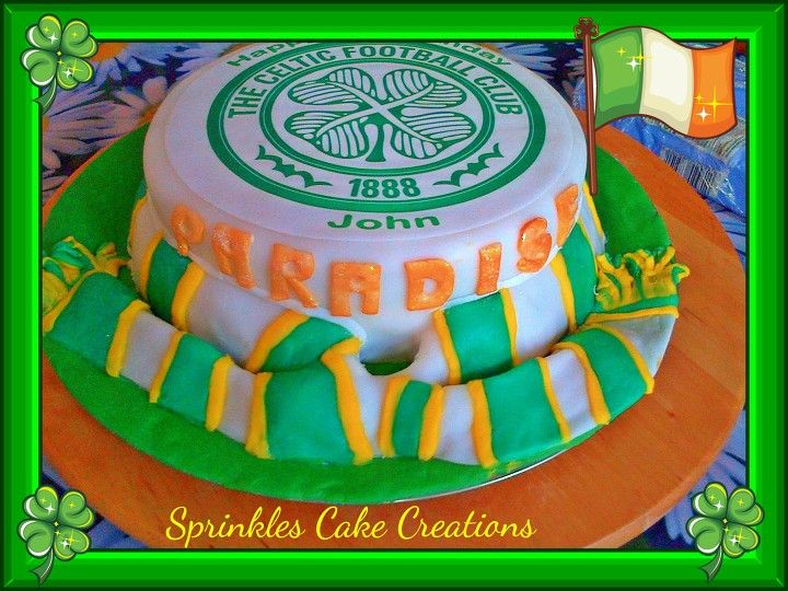 Glasgow celtic football cake with images football cake