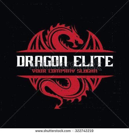 Dragon logo,Dragon,Vector Logo Template | Dragones | Pinterest ...