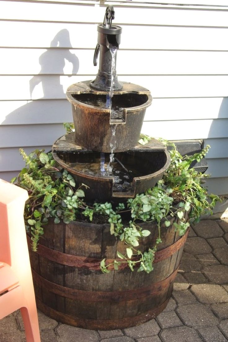 How to upgrade a store bought outdoor water fountain Without