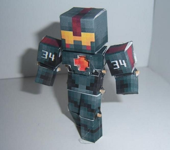From Pixel Papercraft Papercraft Community And With Credits To