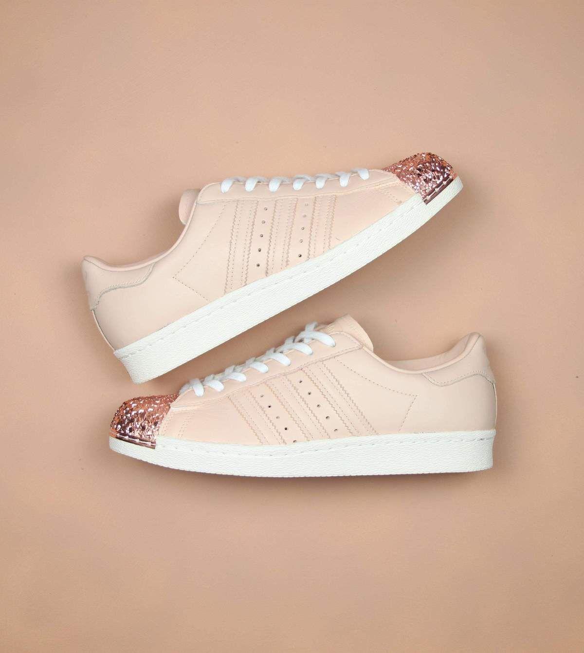 rose gold shell toe adidas