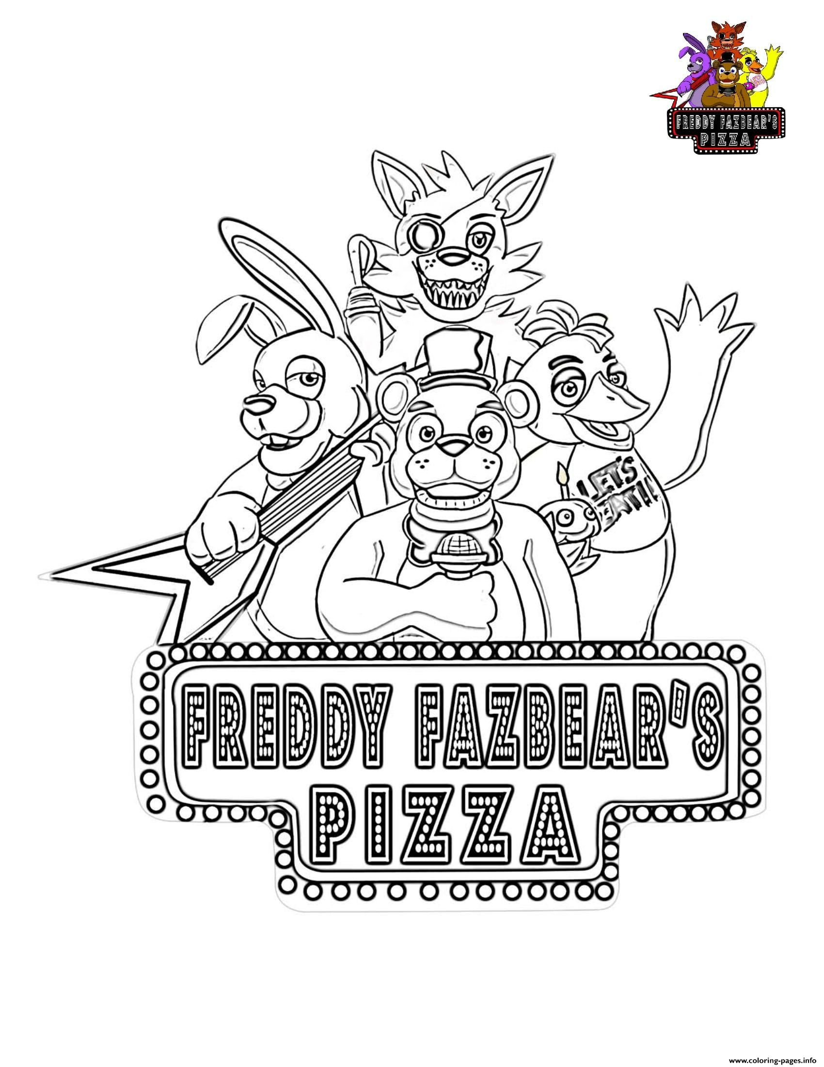Minecraft Freddy coloring page | Free Printable Coloring Pages | 2200x1700