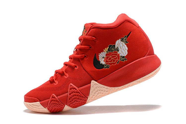 detailed look 0948f ca2d3 Nike Kyrie 4 Young Big Boys CNY Chinese New Year Red Black ...