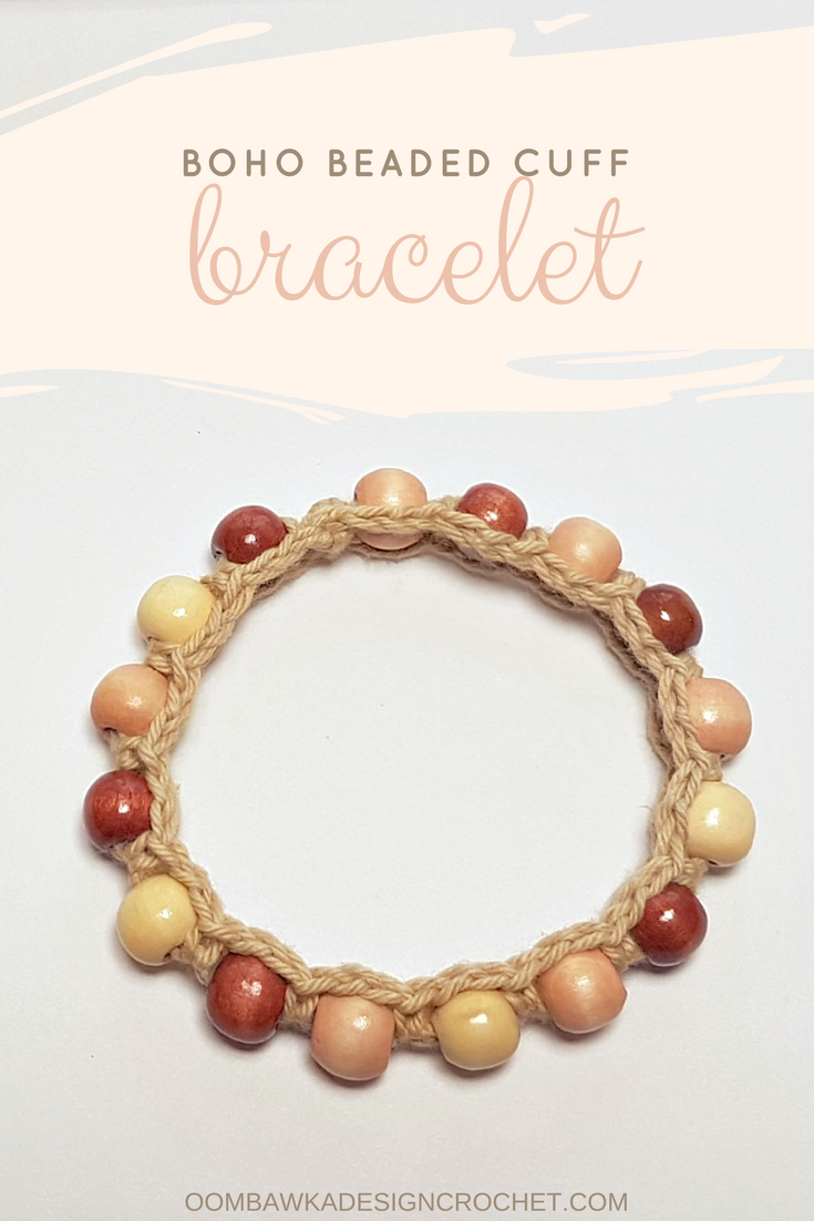 Boho Beaded Cuff Bracelet Pattern | Pulseras, Collares y Joyerías