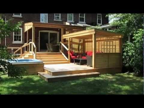 patio avec spa deco ext pinterest le patio patios et piscines. Black Bedroom Furniture Sets. Home Design Ideas