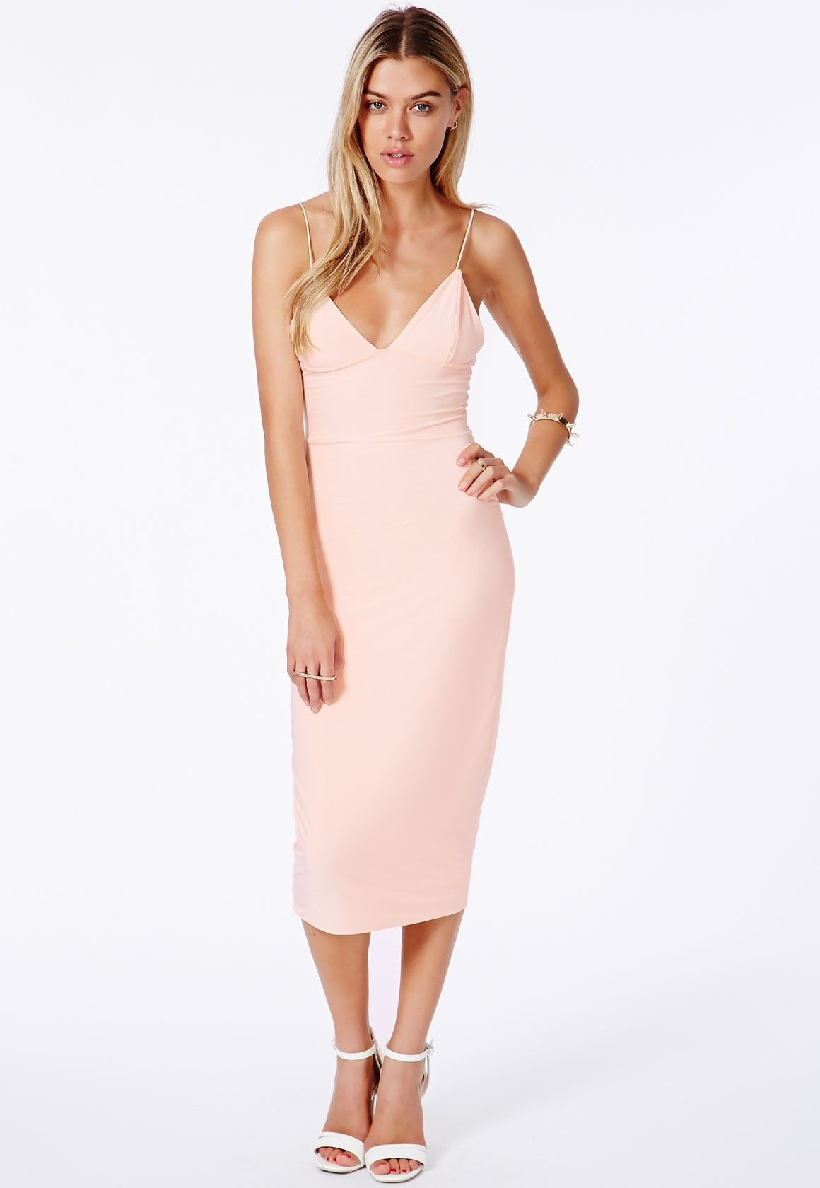 e565fcfcdb2 Elodia Slinky Strappy Midi Dress - Dresses - Midi Dresses - Missguided