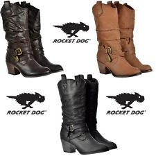 dcd425f66ed WOMENS ROCKET DOG SIDESTEP RIDER COWBOY WESTERN BROWN BLACK TAN ...