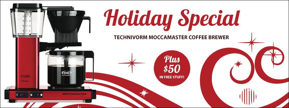 Red Metallic Technivorm Moccamaster KBG741 Espresso