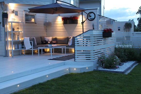 house, patio, garden, lighting, diy, do-it-yourself