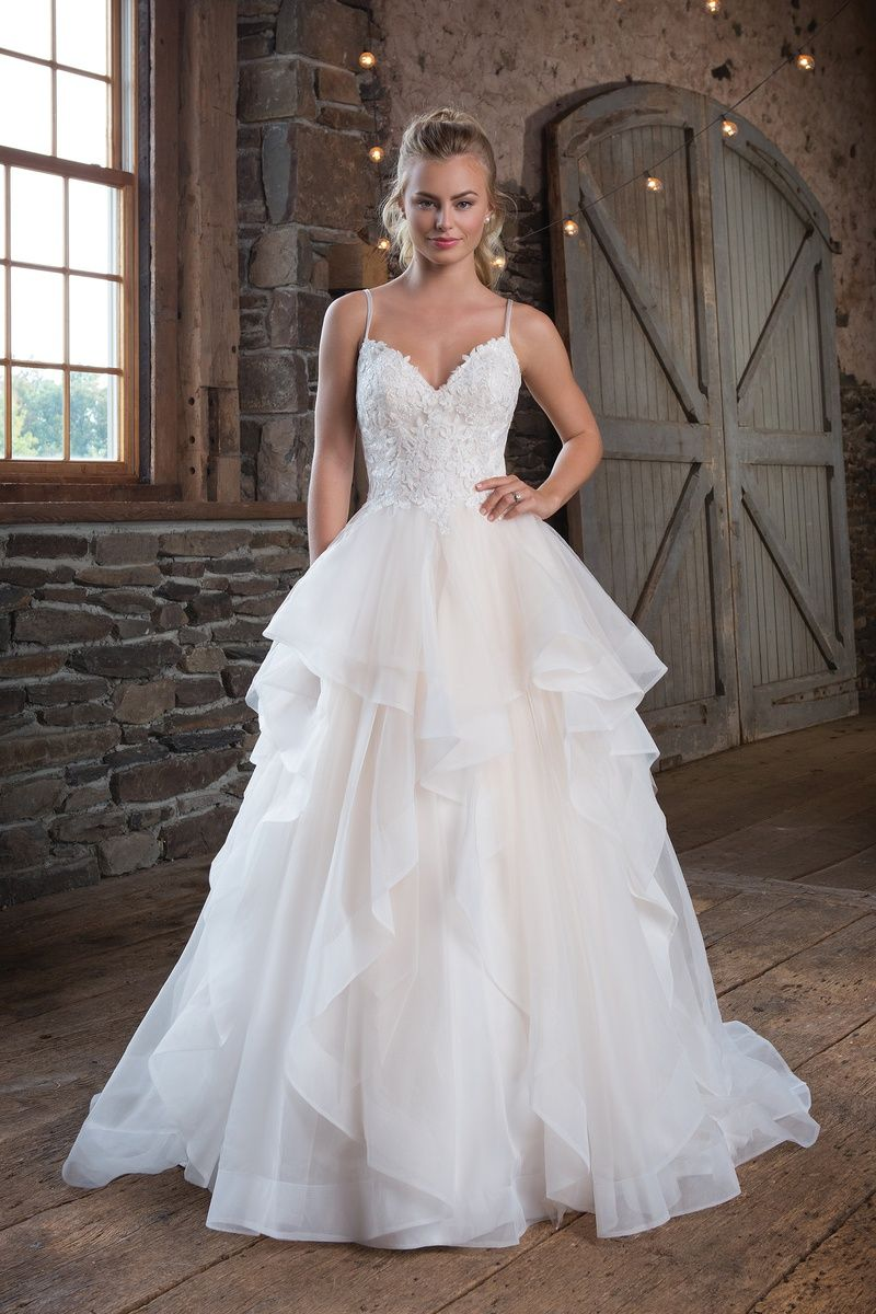 Sweetheart Gowns Style 1123 Organza Ruffle Ball Gown: Organza Ruffle Wedding Dresses For Bride At Websimilar.org