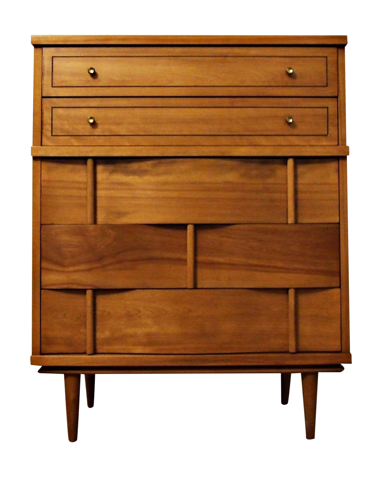 Woah woven wood This is a beautiful Mid Century dresser with