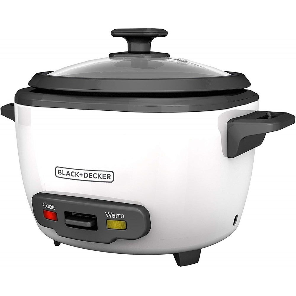 Black & Decker 16-Cup Rice Cooker, White