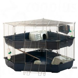 2 Storied Double Corner Cage Indoor Rabbit Cage Small Pets