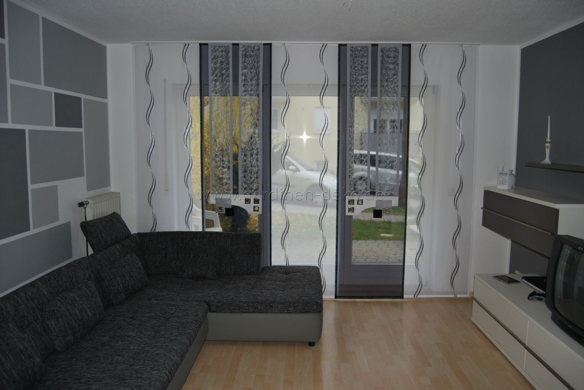 schiebevorh nge f r wohnzimmer stroyreestr. Black Bedroom Furniture Sets. Home Design Ideas