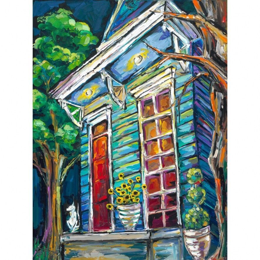 New Orleans Artist Becky Fos Calm Before The Storm Print Framed And Matted.