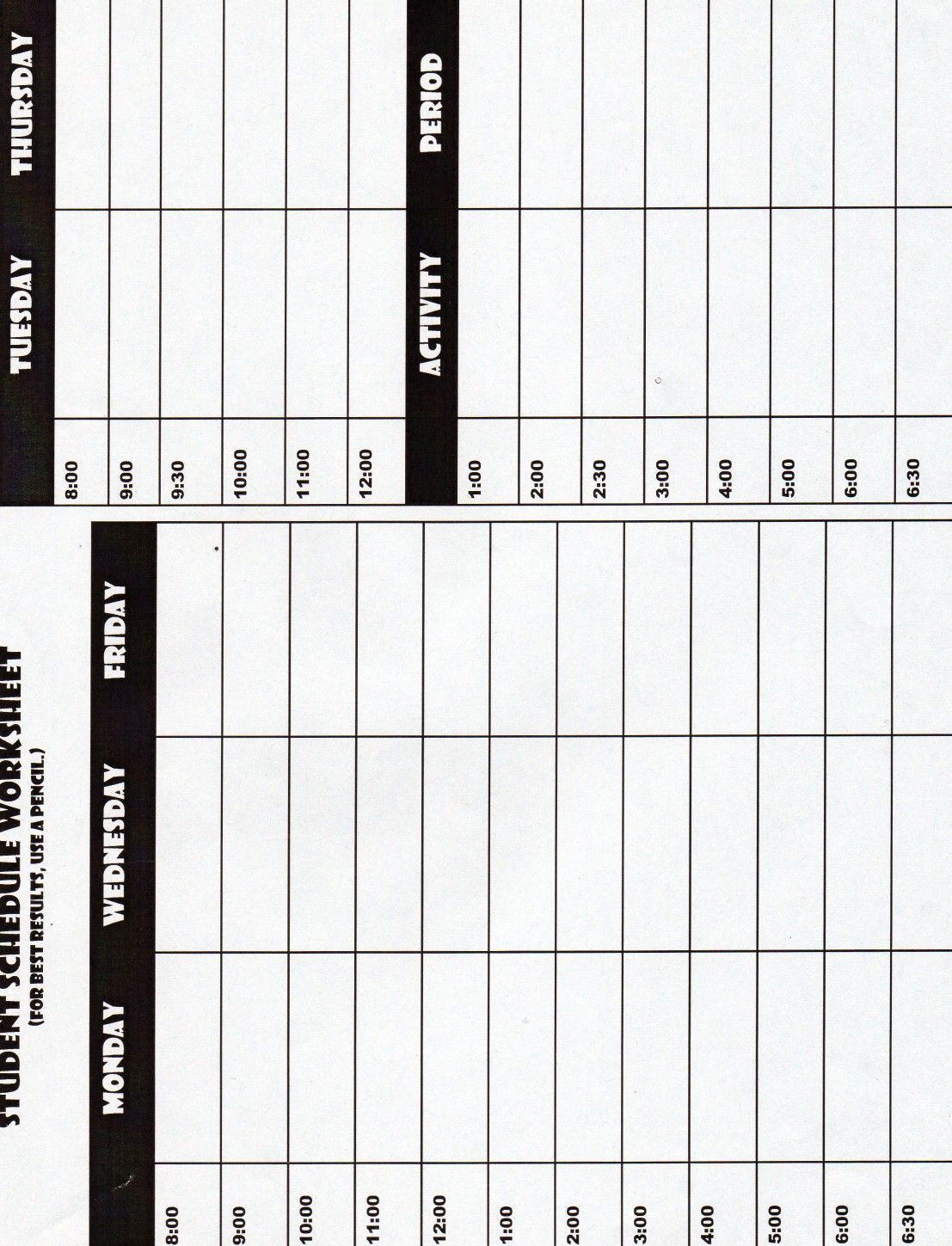 Schedule With Images
