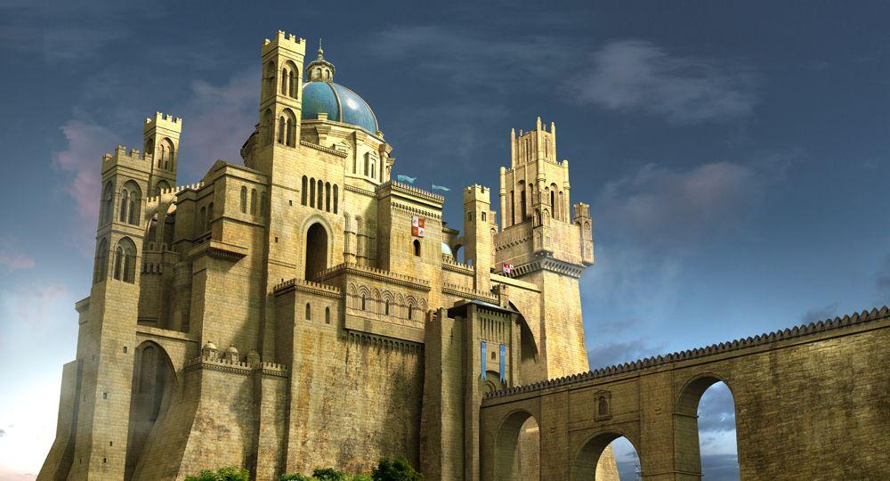 Jim Martin Concept Art: Medieval Castle Model | Arch_Castles ...