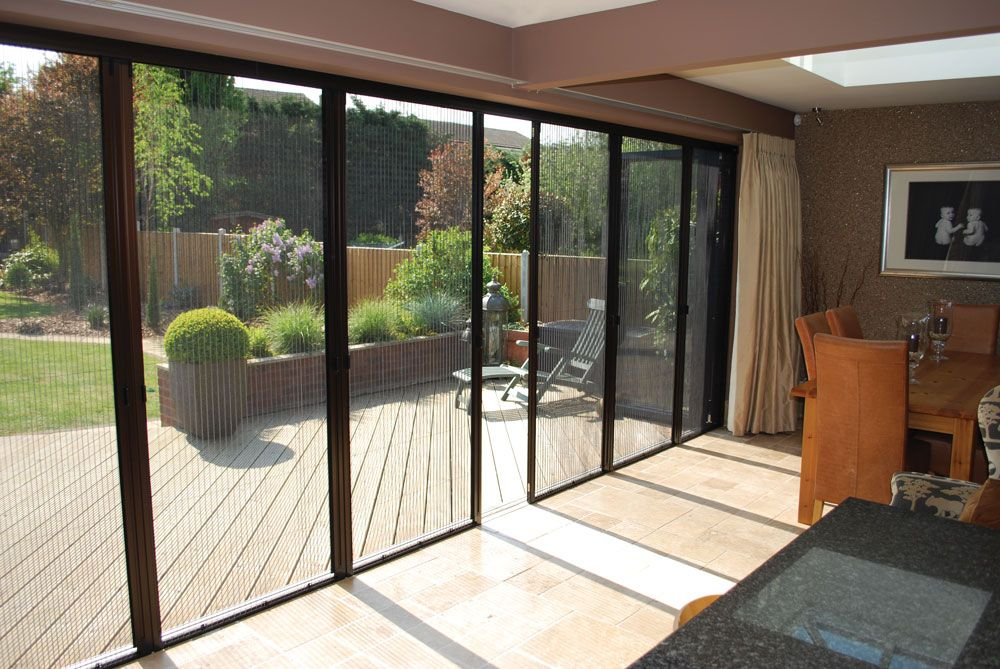 Bi Fold Patio Doors With Screens Look Great And Save From Too Intense  Sunshine