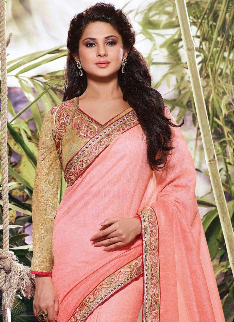 Jenifer Winjet | Lehenga style saree, Saree designs ...