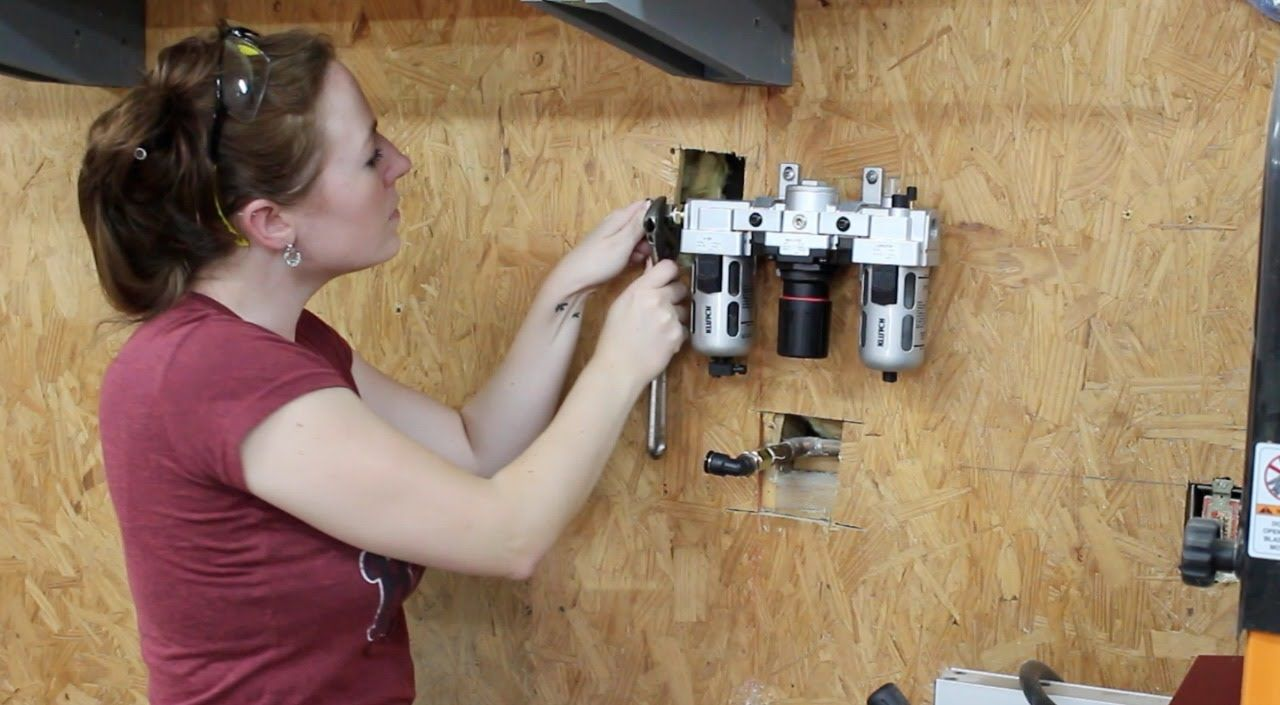Installing a Shop Air System Air compressor, Garage