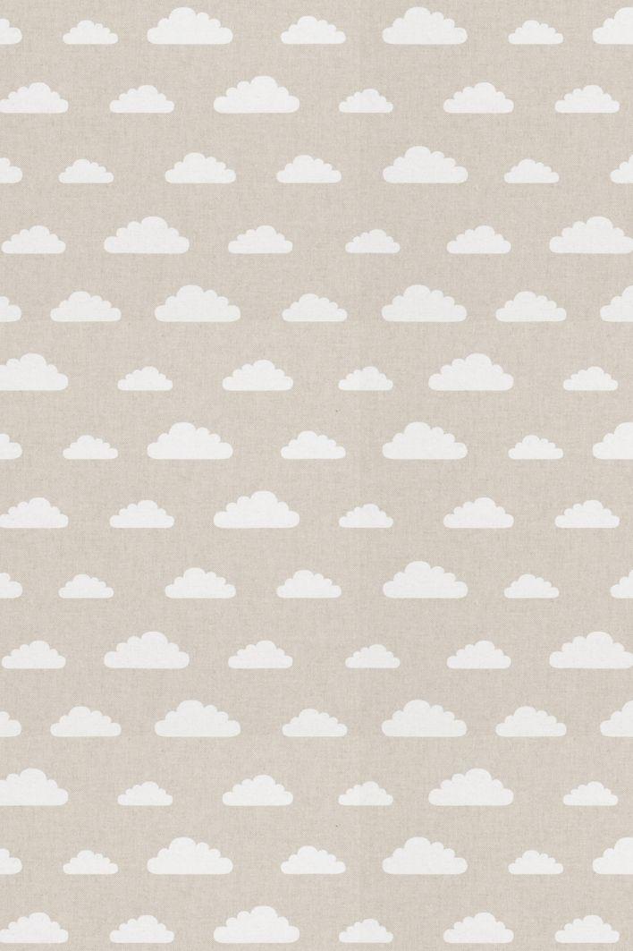 Stof met wolkjes motief, uitstraling van linnen, geschikt voor ...