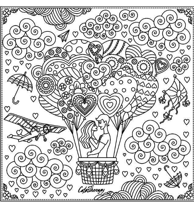 hot air balloon coloring page | hot air balloon coloring pages for ... - Hot Air Balloon Pictures Color