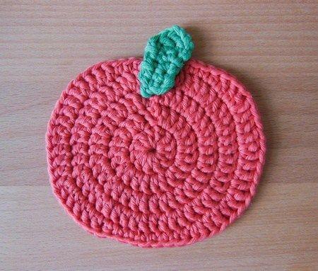 tutorial how to crochet pumpkin coaster cotton | coasters | Pinterest