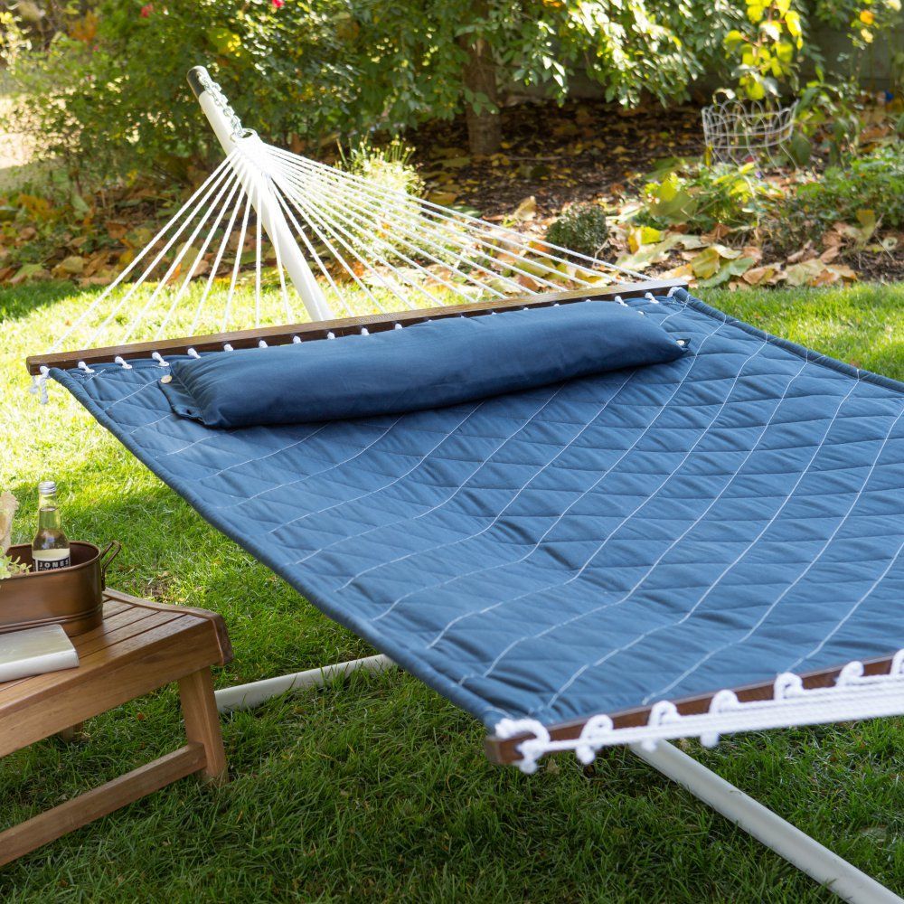 island bay 13 ft  diamond stitch quilted hammock with 15 ft  hammock stand   island bay 13 ft  diamond stitch quilted hammock with 15 ft      rh   pinterest