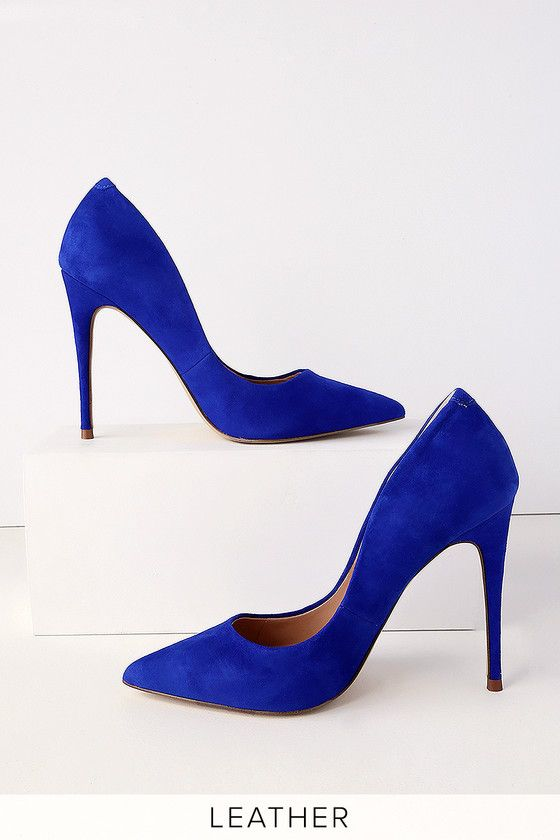 0f8afe2ea69 Daisie Blue Suede Leather Pumps | Shoes | Blue suede, Leather pumps ...