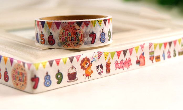DIY Removable Adhesive #Masking Deco #Washi Tape - Birthday #Party,  View more on the LINK: http://www.zeppy.io/product/gb/3/258345871/