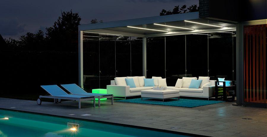 brustor b 200 outdoor living met ledverlichting aan zwembad