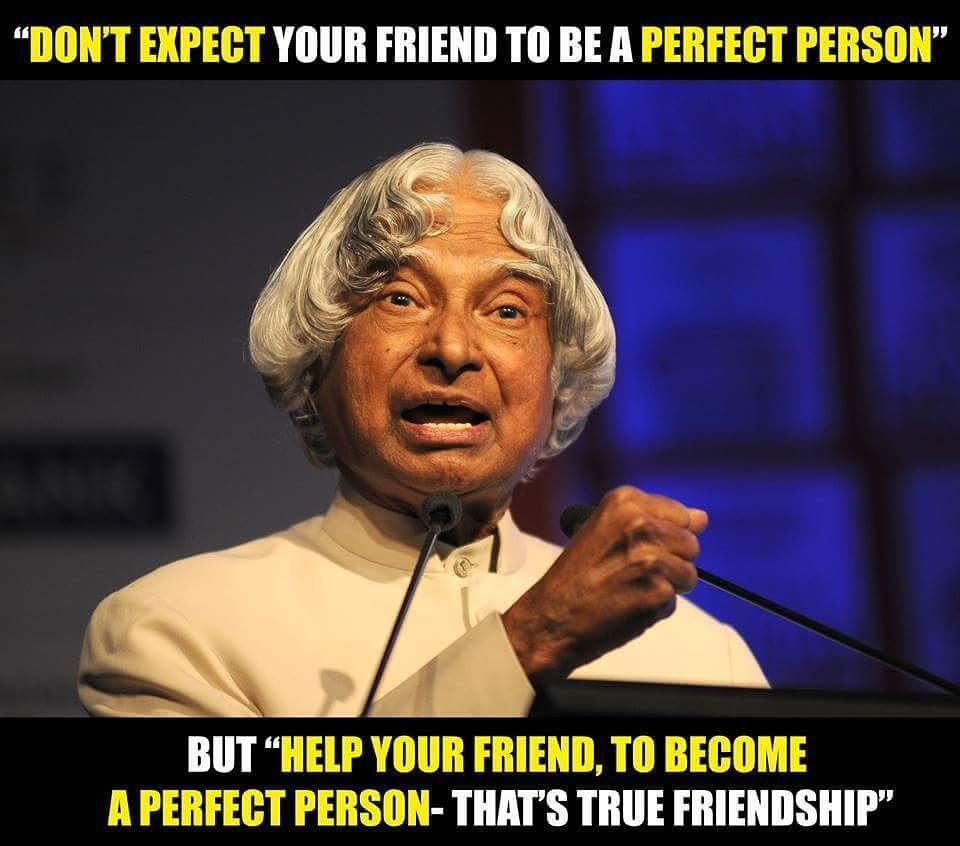 Apj Abdul Kalam Quotes Friendship Imgurl