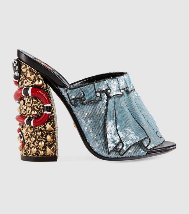 Gucci – Sandalias de trampantojo cequí – 980 euros Tacones 9bf9b21cf55a