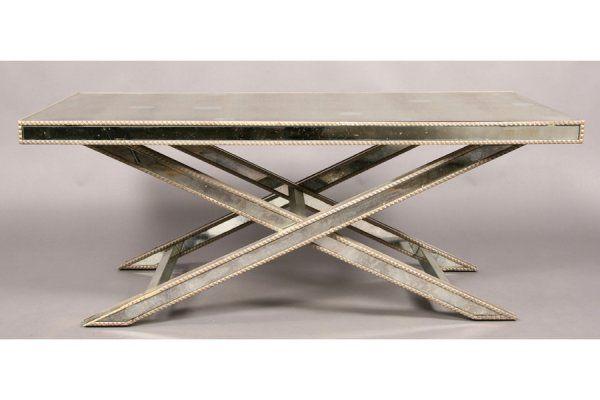 Amy Howard Regency Mirrored Coffee Table X Base