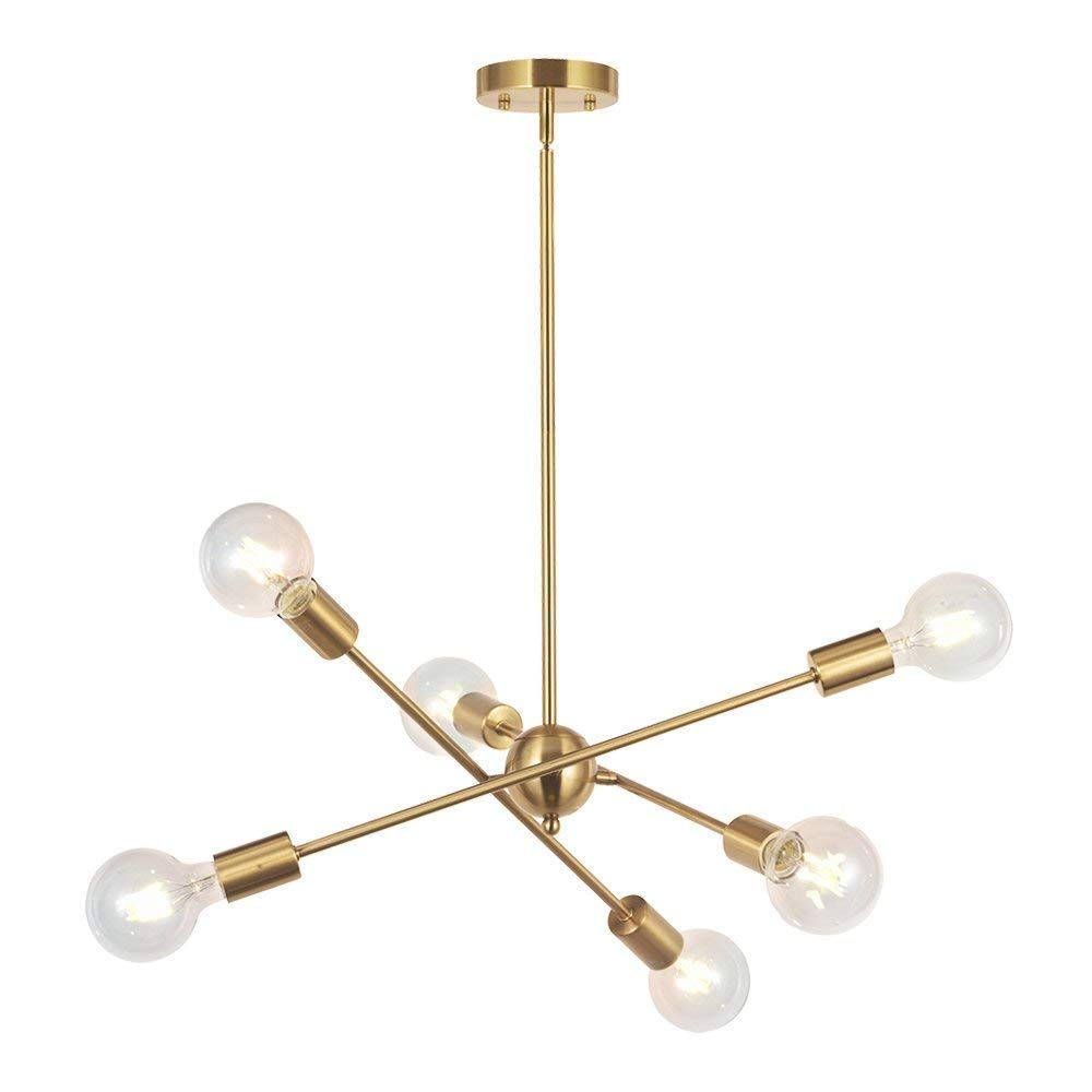6 lights modern sputnik chandelier lighting pendant lighting brushed rh pinterest com
