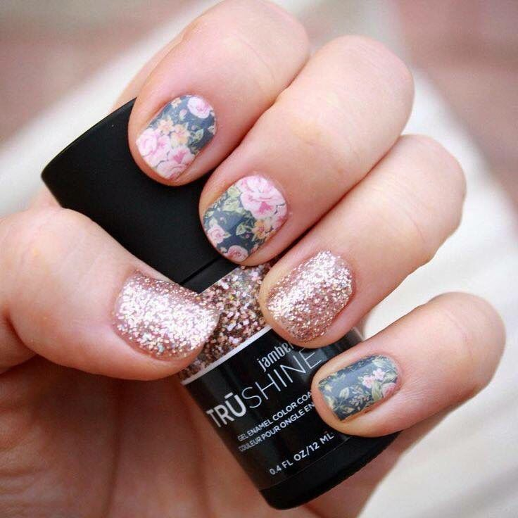 Dusty floral | Nails | Pinterest | Nail wraps and Jamberry
