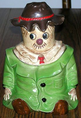 VINTAGE ROYAL SEALY JAPAN RAGGEDY ANDY SCARECROW COOKIE JAR **GREAT CONDITION