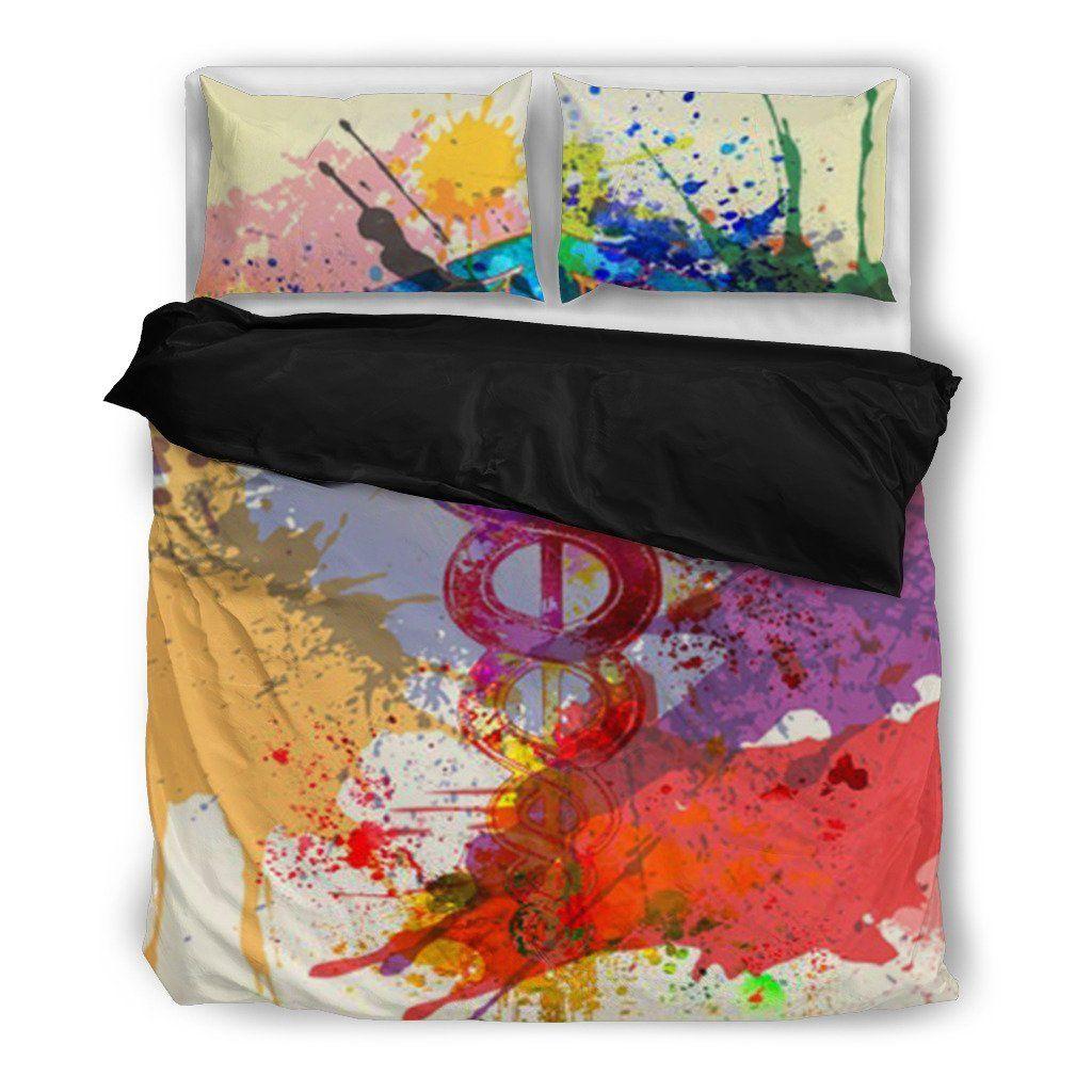 Paint Splatter Caduceus Symbol Bedding Set Health Symbol Symbols Paint Splatter
