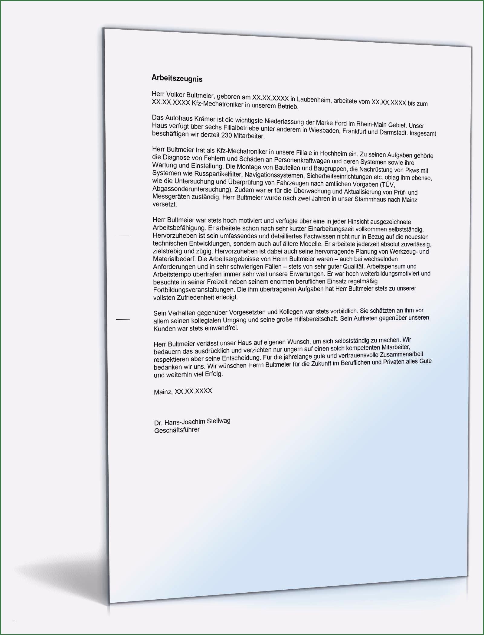 ᐅ Arbeitszeugnis Muster Vorlagen Formulierungen 5